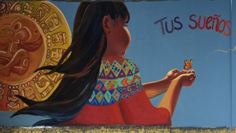 Mural of the girl in Guatemala